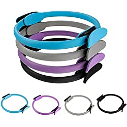 takestop® Anillo Pilates Ring Circle RF 64519°Círculo Doble empuñadura de Gimnasia Muslos Brazos Antideslizante Resistente Yoga Color AL Azar