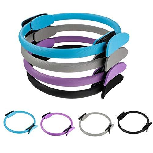 takestop® Anello Pilates Ring Circle RF_64519 Cerchio Doppia Impugnatura Ginnico Cosce Braccia Antiscivolo Resistente Yoga Colore Casuale