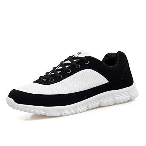 Men's Zapatillas Hombre Mesh Breathable Athletic Outdoor Training Shoes White Black