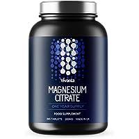 Citrato de magnesio - 200 mg x 365 pastillas | Suministro para 1 año | Aptas para vegetarianos y veganos | De.