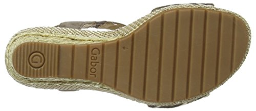 Gabor Shoes 22.824.22_Gabor_Suede Leather Damen Plateau Sandalen Grau (fango (ba.st))