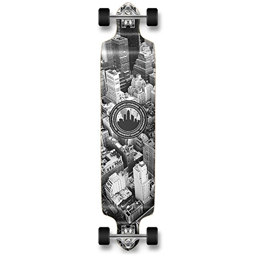 yocaher Professionelles Longboard / Skateboard Mehrfarbig New York