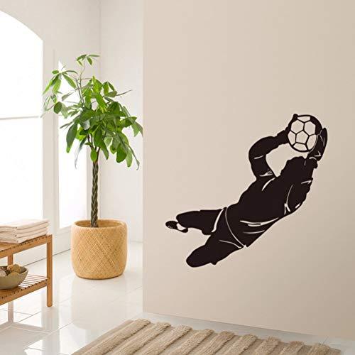 sprüche Fußball Torwart wandkunst Aufkleber fußball Sport wohnkultur Jungen Zimmer dekor DIY tapete abnehmbare wandaufkleber 106 * 43 cm ()