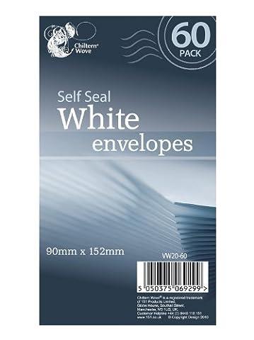 120Selbstversiegelnde Briefumschläge, Weiß/2x 60Stück