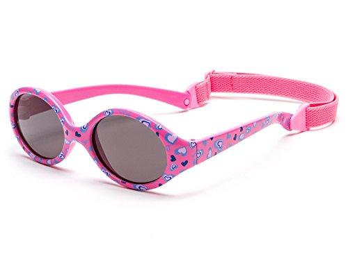 Kiddus Baby Comfort Sonnenbrillen für Baby Kinder Jungen und Mädchen. Alter 6 Monate bis 2 Jahre. Sehr Komfortabel und Sicher. 100% UV-Schutz. Mit Verstellbarem Gummiband (KI30904)