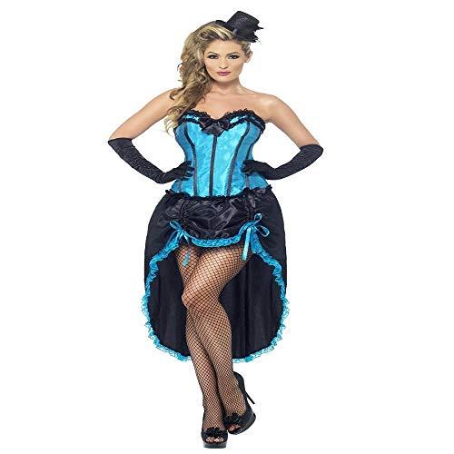 Smiffys, Damen Burlesque Tänzerin Kostüm, Korsett und
