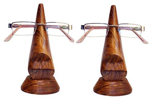 Stylla London® 2er Set Handgefertigte Nasenform Lesekrille Halter Ständer Ständer Ständer außergewöhnliches Geschenk für Männer und Frauen
