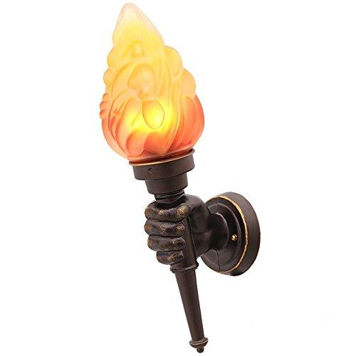 2x LED Solarlicht Wasserdicht Außenleuchte Landschaft Flammeneffekt Fackel Lampe
