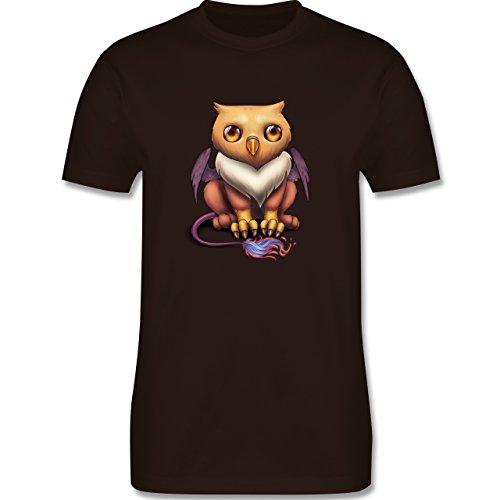 Sonstige Tiere - Baby Greif - Herren Premium T-Shirt Braun