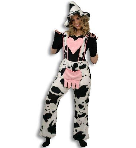Kuh Hose Kuhhose mit Herz Tier Kostüm Gr XXXL (Tier Maskerade Kostüm)