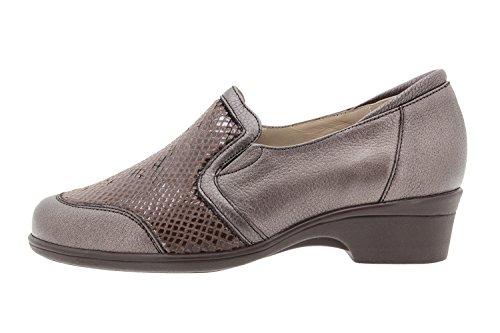 Scarpe donna comfort pelle PieSanto 9614 scarpe casual comfort larghezza speciale Brasil Caoba