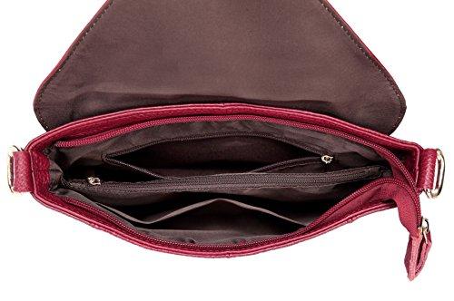 Messenger Borsa a Tracolla Donna Vintage Borse Pelle Spalla Tote Piccolo Clutch Nero Dark Blue