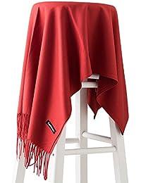 Dolamen Unisex Mujer Bufanda con borlas, Mujer Lana de invierno lujosa ligera y suave Cashmere Chales Estolas Fulares Bufanda Pashminas, Pañuelo caliente para ocio y negocios