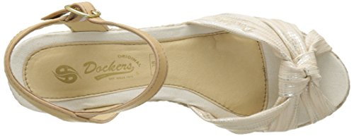 Dockers by Gerli 36is202-680920, Sandales Bout Ouvert Femme Or (gold)