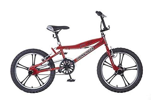 Vélo Enfant Garçon Popal BMX Cross Tiger 20 Pouces Frein avant et Arriére à V Rouge 95% Assemblé
