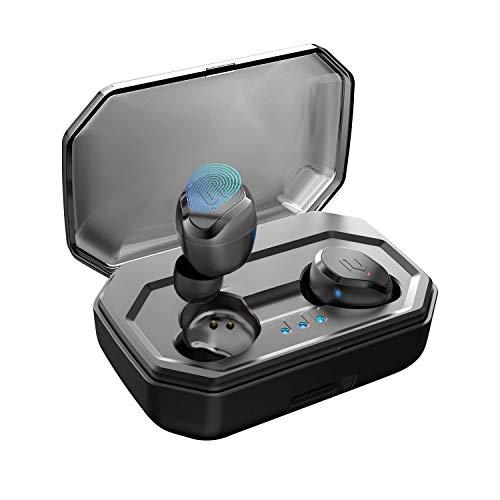 【Nouvelle Version】 AIKELA Ecouteur Bluetooth sans Fil Oreillette Bluetooth 5.0 IPX6 Sport Étanche Écouteur Stéréo Réduction du Bruit Casque Bluetooth avec 90 Heures Playtime Micro pour iOS Android