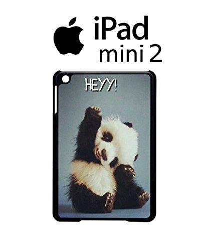 Panda Hey Child Cute Logo Emblem White Bear Black iPad Mini 2 Tablet Black -