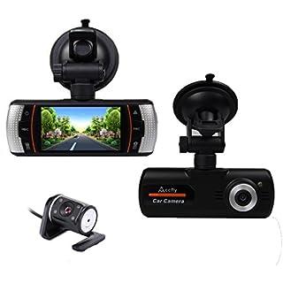 Accfly 2.7-inch Screen 1080P HD Video Recorder DVR Dual Lens Car Dash Camera