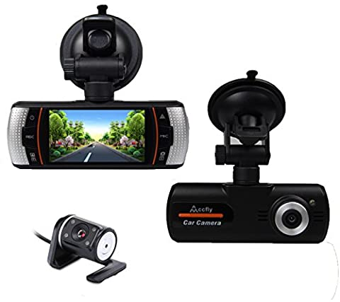 Accfly 2.7-inch Screen 1080P HD Video Recorder DVR Dual Lens Car Dash Camera