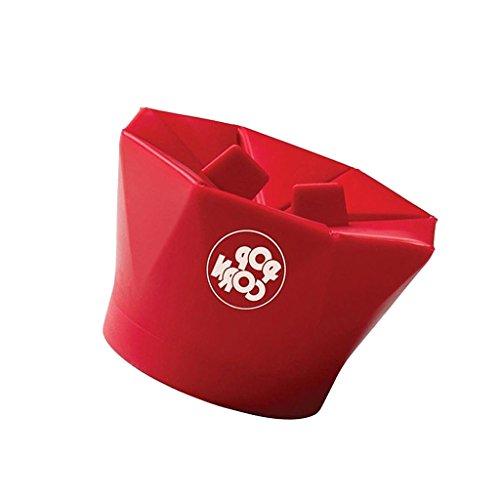 Silicone Bol de Four Micro-ondes pour Cuisson de Pop Corn Ustensil Cuisine Nettoyage Facile - Rouge