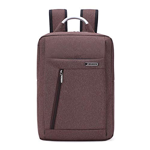 Backpack Shoulder Bag Shoulder Bag Nylon Business Bag Sports and Leisure Computer Bag Unisex, 30 * 40 * 15Cm@Brown_16 Inch -