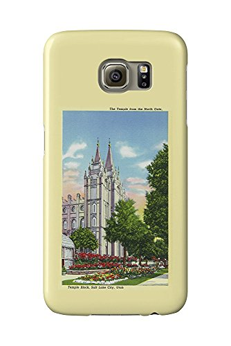 Salt Lake City, Utah - Exterior View of the Mormon Temple from the North Gate (Galaxy S6 Cell Phone Case, Slim Barely There)