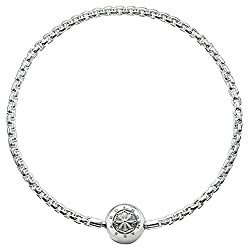 Thomas Sabo Damen Herren-Armband Karma Beads 925 Sterling Silber   KA0001-001-12- , Länge -18 - Silber