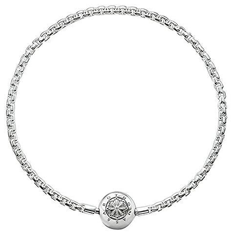 Thomas Sabo Femmes Hommes-Bracelet Karma Beads Argent Sterling 925 Longeur 17 cm KA0001-001-12-L18