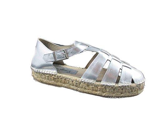 scarpa donna in pelle CARMEN SAIZ mod.16805 modello ragno 38 argento