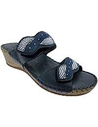Riposella - Zapatillas de estar por casa para hombre negro negro negro Size: 42