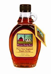 Bascom Brown Family Farm New England Maple Syrup Grade a Dark Amber 8 oz (Pack of 2)