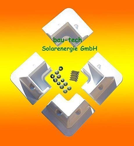 bau-tech Solarenergie Solarmodul Halterung 4 x Eckprofil Wohnmobil Camping Solarhalterung weiß GmbH