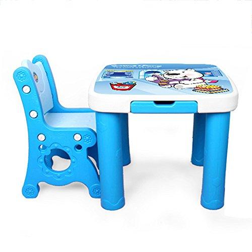 Tavoli E Sedie In Plastica Per Bambini.Brisk Set Da Tavolo E Sedie Per Bambini Asilo Scrivania Di Plastica Sedia Disegna Un Tavolo Didattico Colore Blue C Dimensioni 1 Table 1