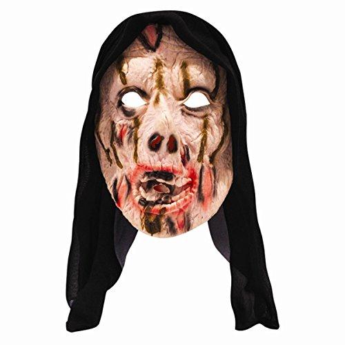 Halloween Ghoul Hooded Fright Mask Horror Monster Fancy Dress ()