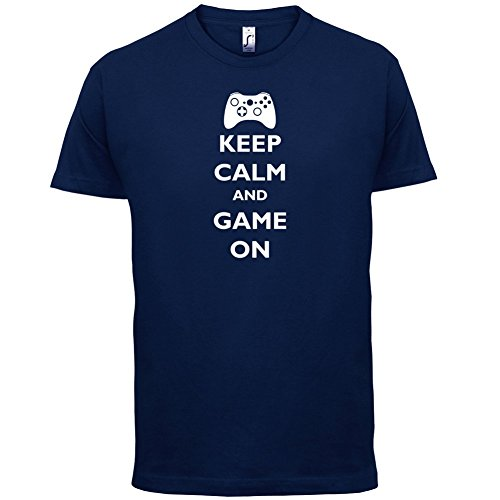 Keep calm and Game on - Herren T-Shirt - 13 Farben Navy