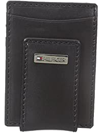 Tommy Hilfiger Men's Leather Fordham Card Case Wallet with Money Clip