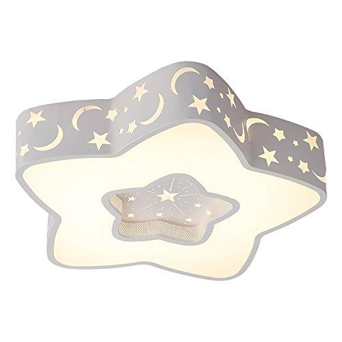 Kinderzimmerlampe Stern Babylampe Star Lampe Led Baby Licht Sternen Kinderlampe Deckenlampe Deckenleuchte Kinderzimmer Junge Leuchte Kinder Schlafzimmerlampe Schlafzimmer Zimmerlampe (Warmes Licht 40 CM, Weiß)