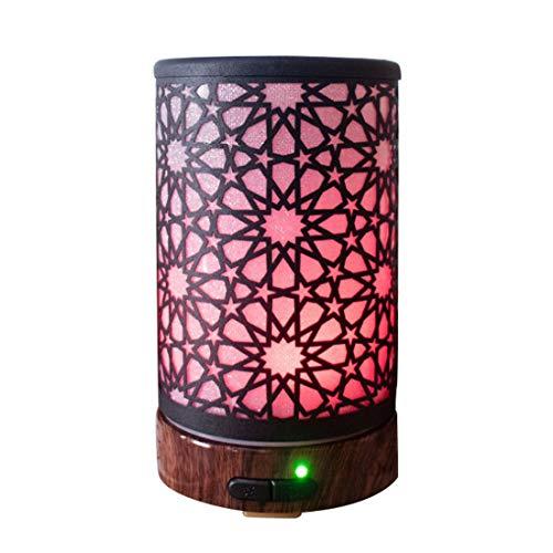 FELICIPP 100ml ätherisches Öl Diffusor Aromatherapie Luftbefeuchter mit 7 Farbwechsel LED-Lampen, Nebel-Modus Anpassung und wasserlose Auto Abschaltung Funktion Kaleidoskop (Farbe : Schwarz) (Honeywell Luftbefeuchter Lampe)