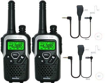 10km Binatone Action 1000Long Range Zwei Wege Radio Twin-Set +