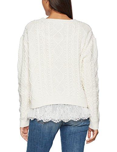 Guess Ls Rn Tecla, T-Shirt Donna Multicolore (Scuffy)