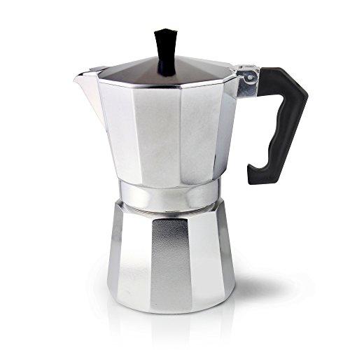 Cafe Ole Cafetière 3 tasses Aluminium Style italien Espresso machine à café 6 Cup (240ml) 6 Cup (240ml)