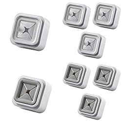 VKTY Schrank-Handtuchhaken, magnetisch, zum Einstecken, für Küchentücher, Handtuchhalter, selbstkleben, 3pcs Grey + 3pcs White