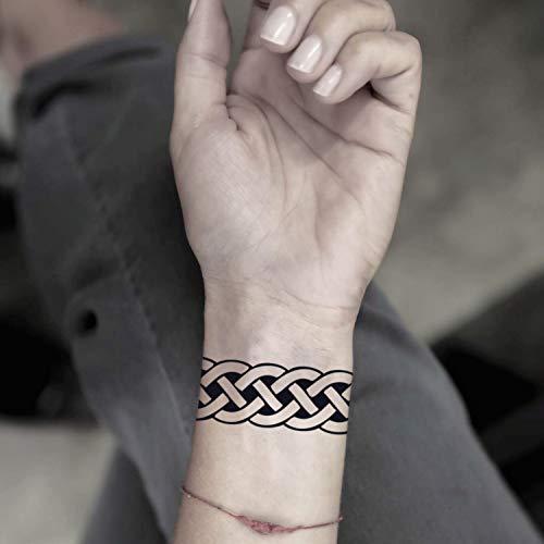 Banda celta etiqueta engomada falso temporal del tatuaje (Juego de 2) - www.ohmytat.com