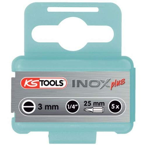 KS Tools 9102234 EDELSTAHL Bit Schlitz, Gesamtlänge 25 mm, 3 mm, 1/4
