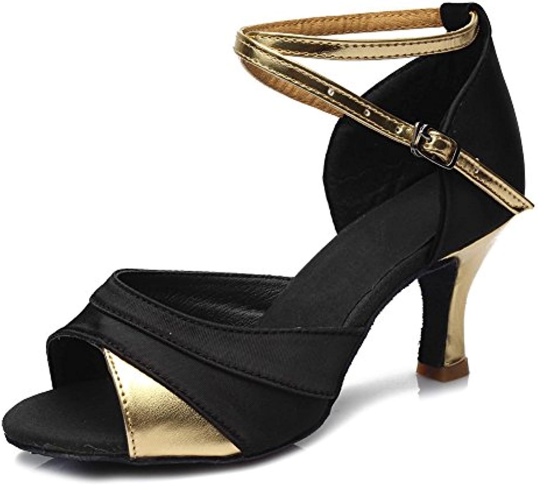 XIAOY Donna Scarpe Scarpe Scarpe Da Ballo Latino Tacco Basso Bocca Di Pesce Attraversare Cinturino Alla Caviglia Fibbia | marche  2a9bc2