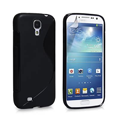 Connect Zone® Samsung Galaxy S4 Mini i9190 S line Silicone Gel Case Cover + Screen Guard And Polishing Cloth (Clear)