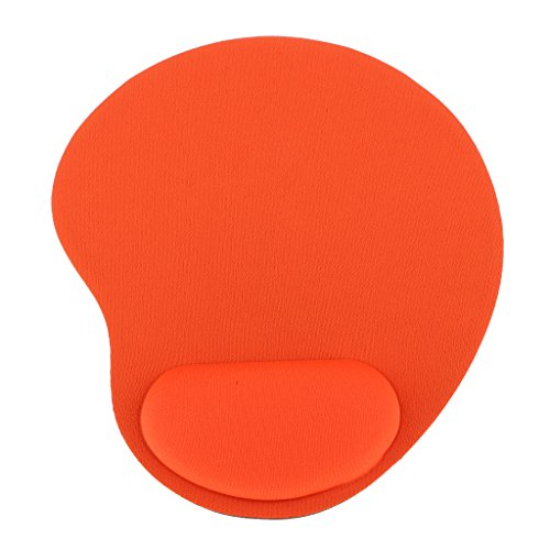 Gaming Gel Maus Pad Handgelenkstütze Matte Mit Rest für PC Laptop - Orange (Handgelenk-rest-maus-pad, Orange)