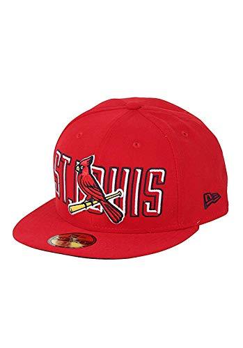 New Era Herren Caps / Fitted Cap Bevel Pitch ST. Louis Cardinals rot 6 7/8 - 55cm (Mlb St Louis Cardinals)