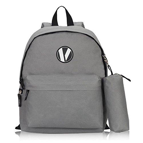 Imagen de veevan  escolar  bolsa de la bolsa 1 lápiz  niño ocio gris 3pc  alternativa
