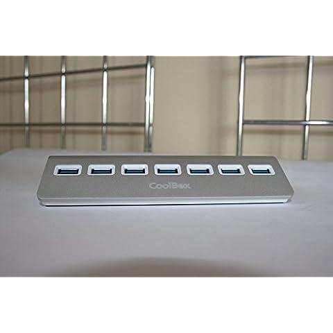 CoolBox - HUB ALU-3 7 PUERTOS USB3.0